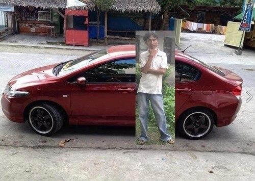 Chico coche photoshop