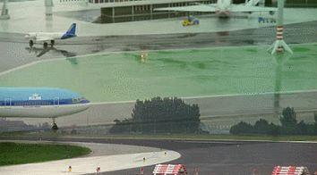 Aterrizaje de avión en miniatura