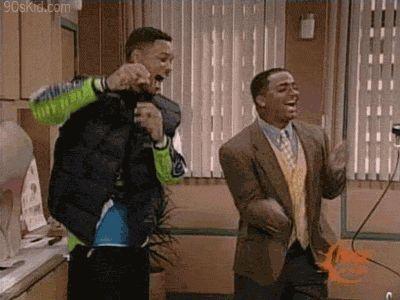 Will y Carlton bailando