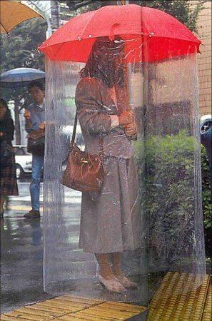 Paraguas con cortina