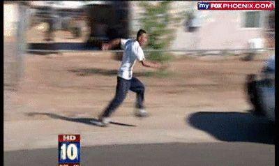 Caida huyendo de la policía